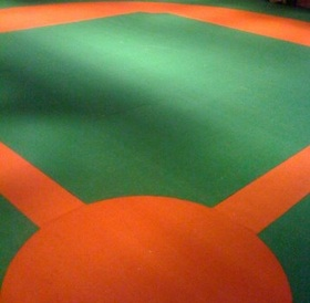 outdoor baseball field turf rug