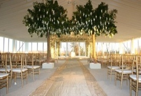 Tent Wedding with White Carpet