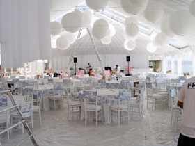 White Carpet for Tent Wedding