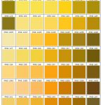 shades of yellow, orange, green PMS 100 - 1545