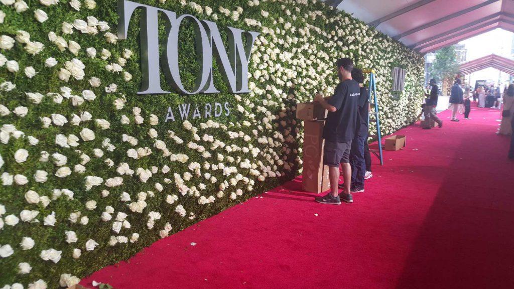 aisle runner for the Tony awards