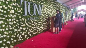 aisle runner for the Tony awards