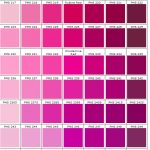 shades of pink and purple color charts PMS 203 - 262