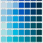 shades of blue color charts PMS 277 - 323