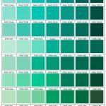 shades of green PMS chart 324 - 364