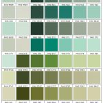 shades of green color chart PMS 5517 - 5875