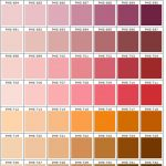 shades of pink and orange color chart PMS 670 - 1852