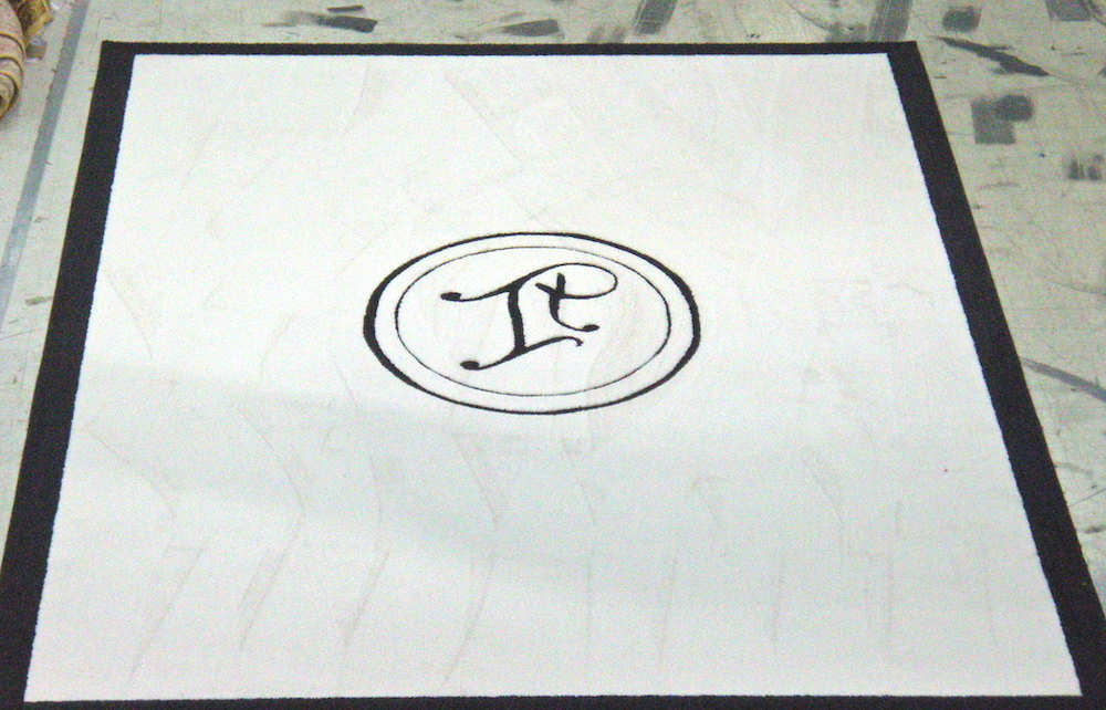 Ivanka logo rug