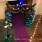purple aisle runner Mardi Gras