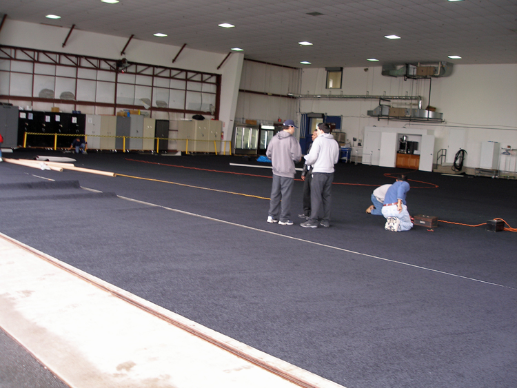 custom carpet for an Airport Hanger