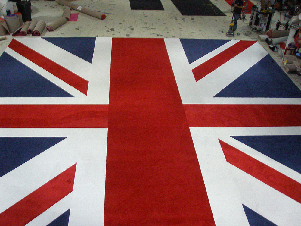 British Flag custom carpet by Event Rugs