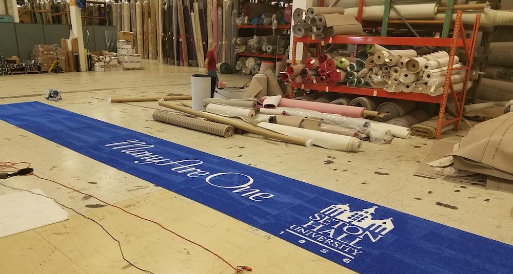 Seton Hall University Many Are One Awards Gala event rug