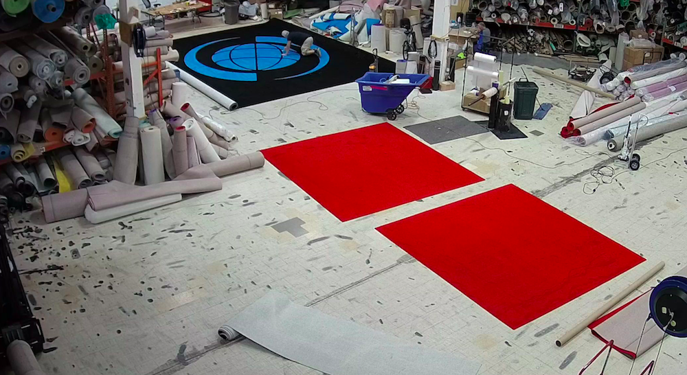 making a logo rug