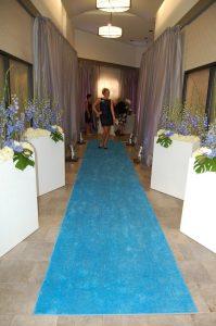 dress for success event rug - blue